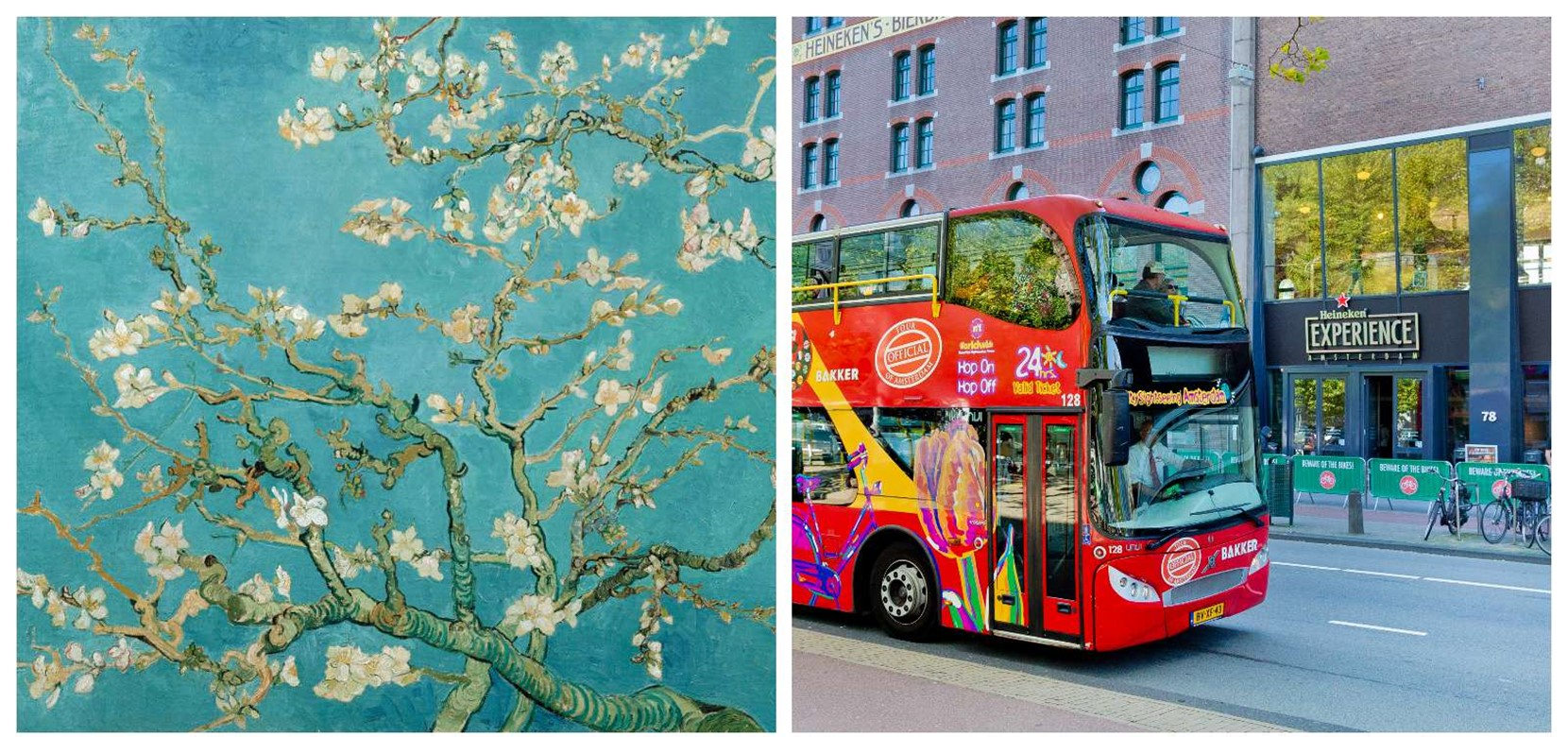 Van Gogh Museum + Hop On Hop Off Bus + Boot Kombination