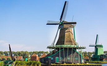 A windmill at the Zaanse Schans.