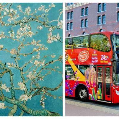 Hop on Hop off bus & boat 24 h. + Van Gogh museum