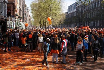 Street party during King's Day