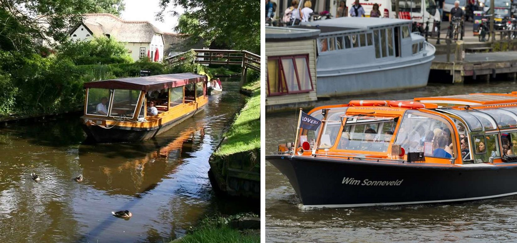 Giethoorn Tour + Amsterdam Canal Cruise