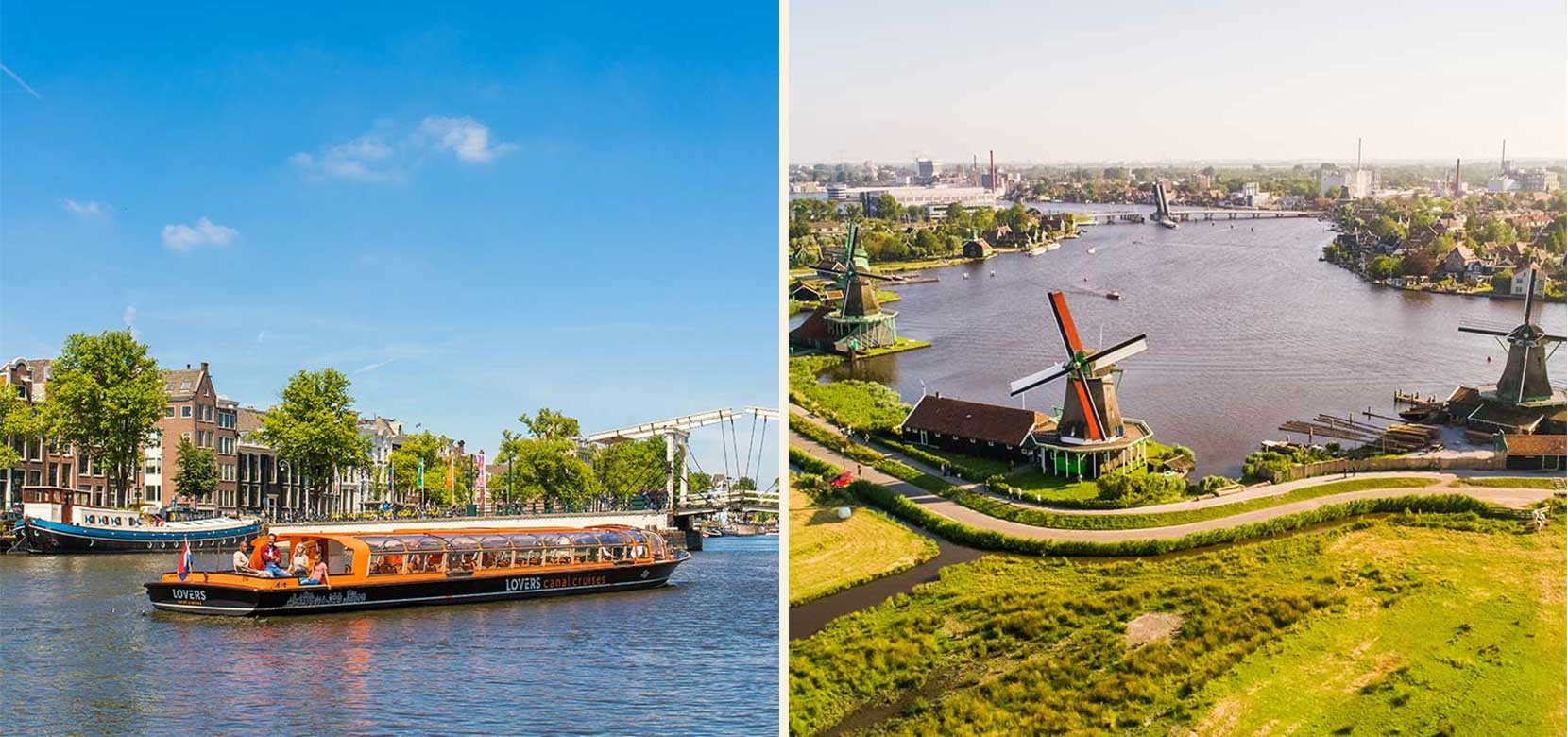 Countryside & Windmills Tour + 1 h. Amsterdam Canal Cruise