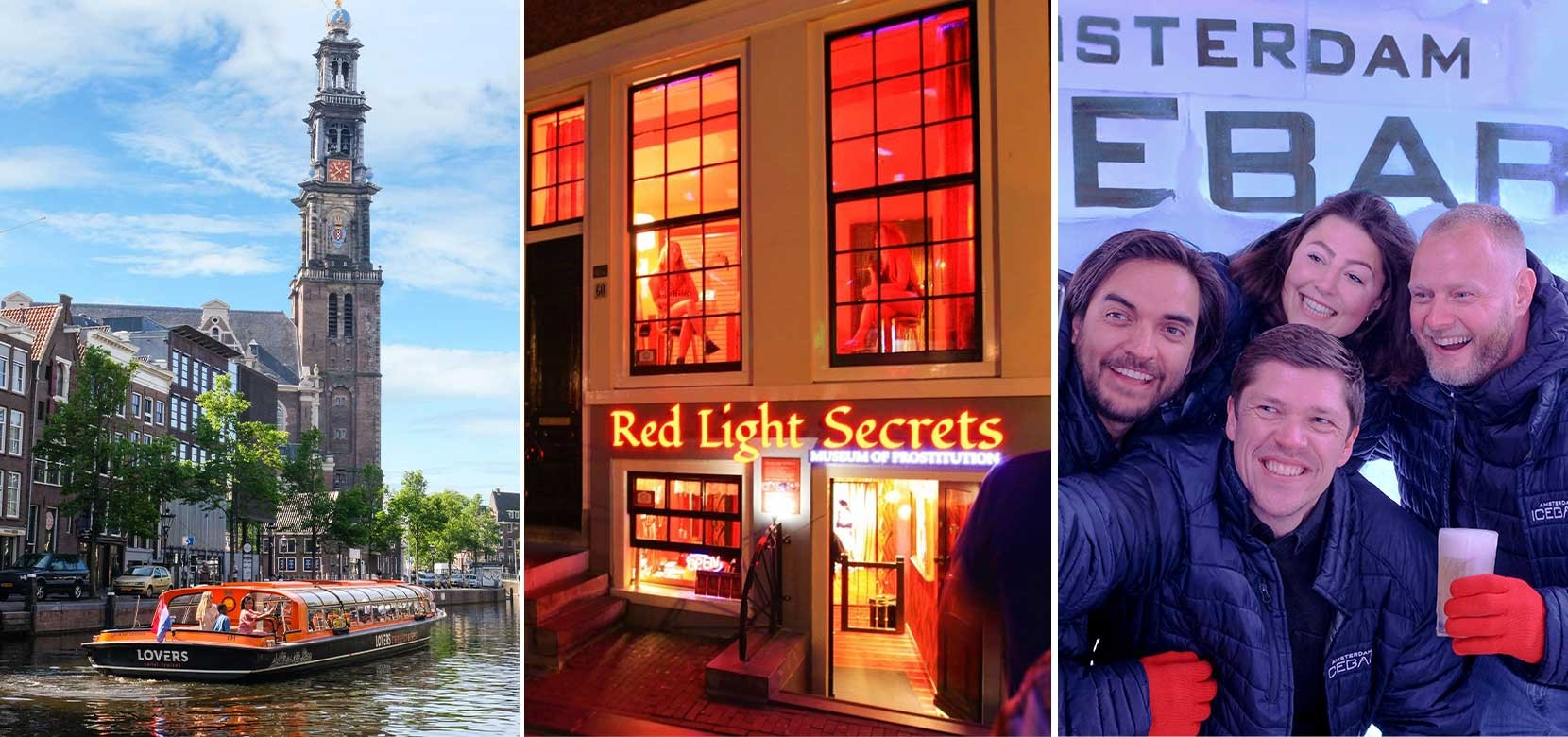 Red Light Secrets + XtraCold Icebar + 1 h. Amsterdam Canal Cruise
