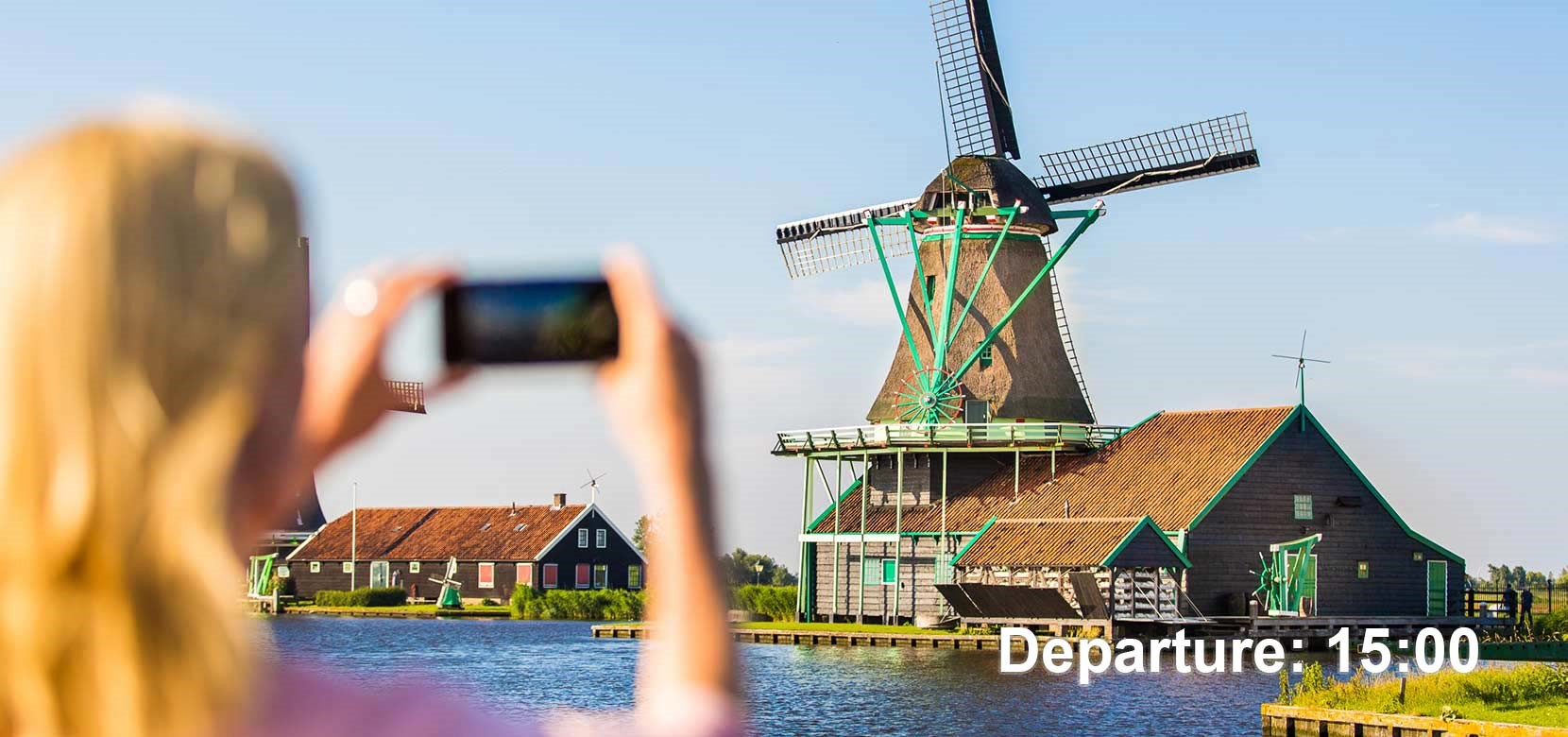 Countryside & Windmills Tour (dep. 15.00 h.) + Free Amsterdam Canal Cruise 1 h.
