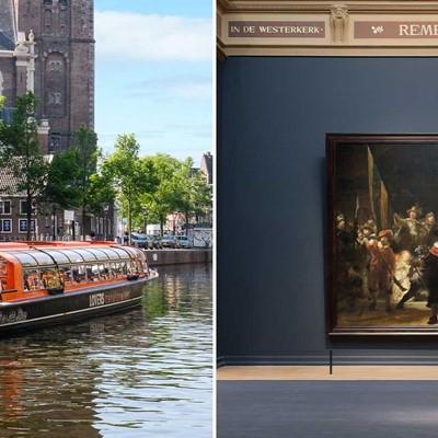 Rijksmuseum + 1 h. Amsterdam Canal Cruise