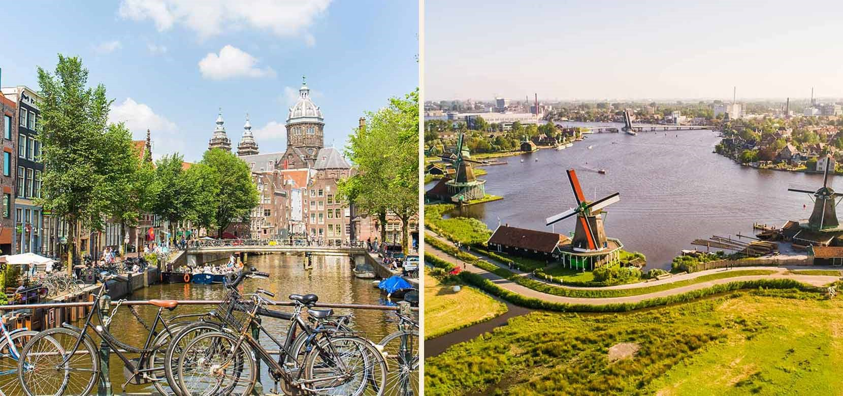 Amsterdam City Tour + Countryside & Windmills tour + Free Canal Cruise