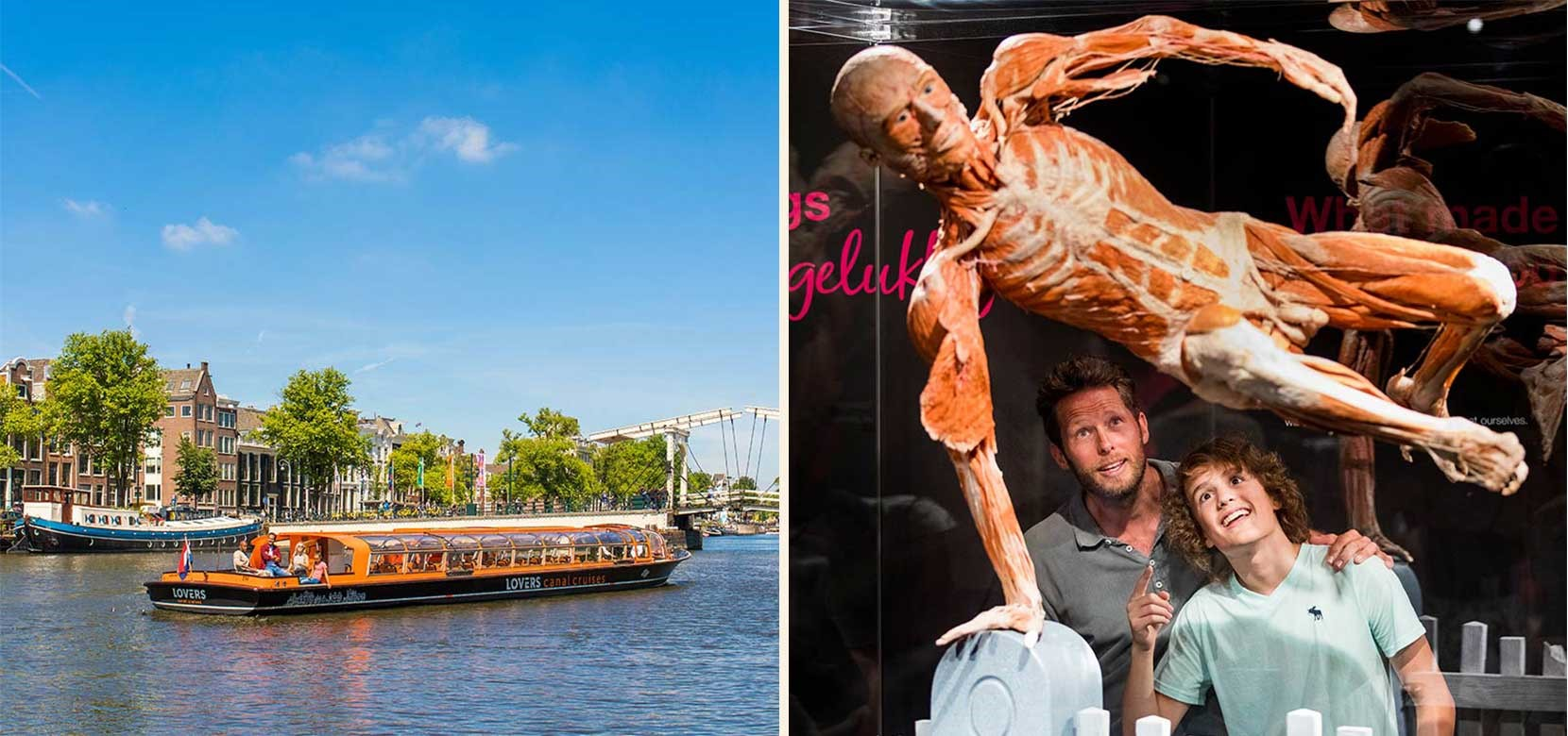 Body Worlds + 1 h. Amsterdam Canal Cruise