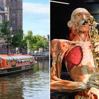 Body Worlds + 1 h. Amsterdam Canal Cruise