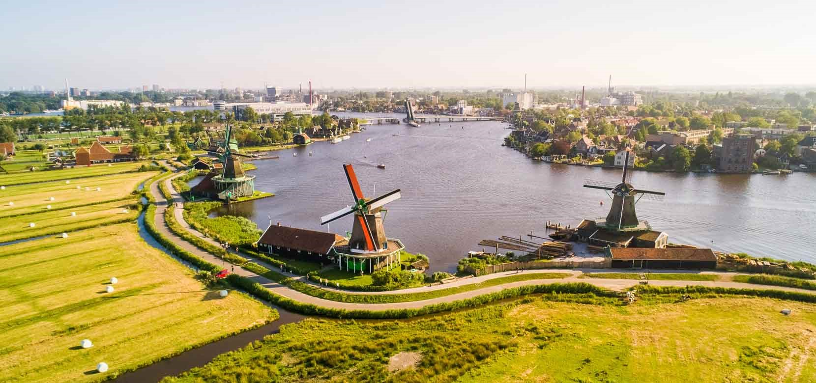 Countryside & Windmills Tour + Semi-Open Boat Cruise