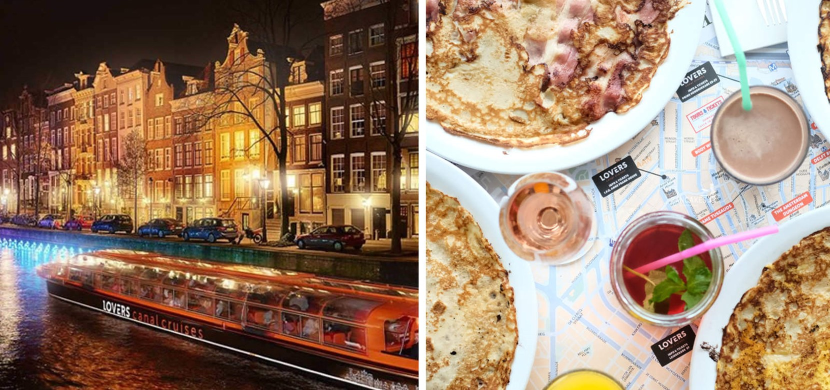 Water Colors Cruise – Anne Frank + PANCAKES Amsterdam Westermarkt