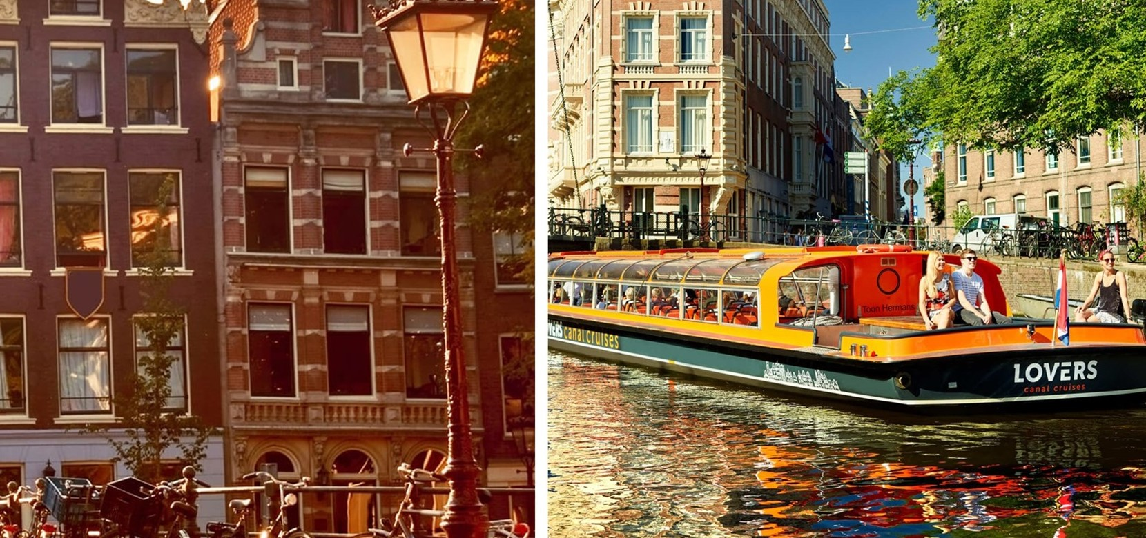 Guided Amsterdam City Tour +  Amsterdam Canal Cruise 1h.