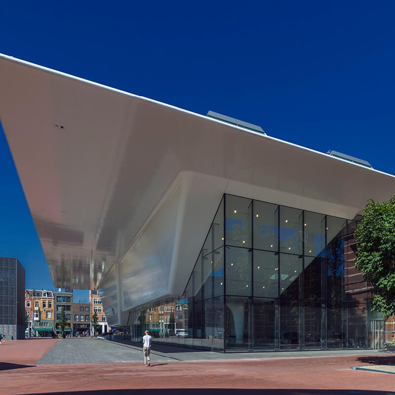 The outside of the Stedelijk museum in Amsterdam also known as the Badkuip.
