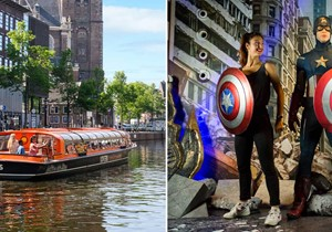Madame Tussauds + 1 h. Amsterdam Canal Cruise