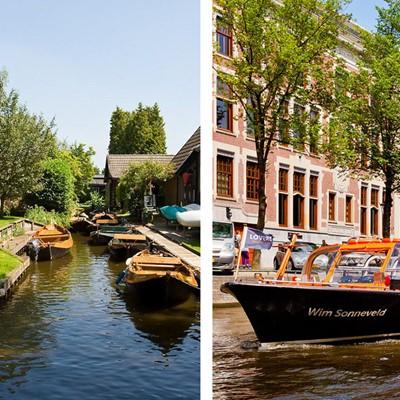 Giethoorn & Volendam + Amsterdam Canal Cruise