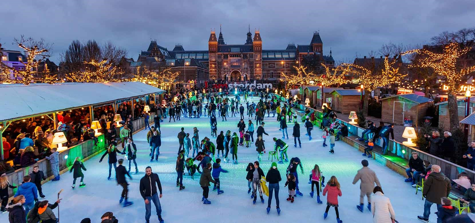 Ice skating at Ice*Amsterdam